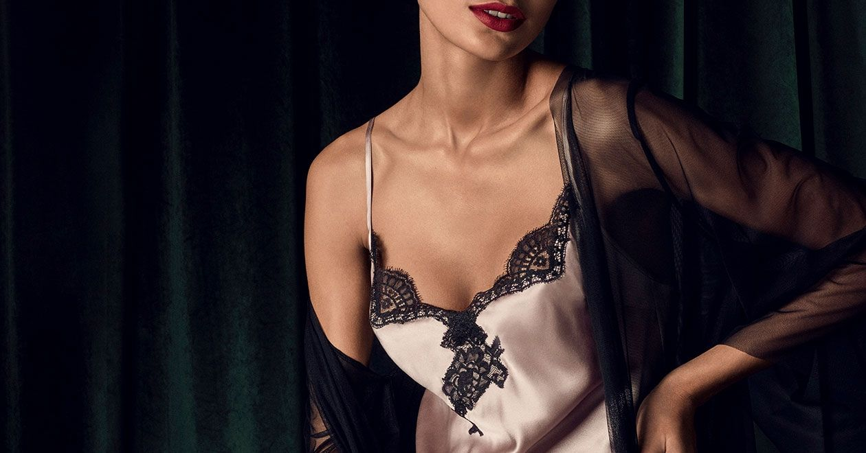 Soie d'Amour silk nightwear by Aubade